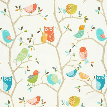 harlequin childrens curtains curtain fabric what a hoot by harlequin in pastel