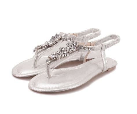 cheap flat silver shoes for wedding compare prices on silver flat sandals for wedding