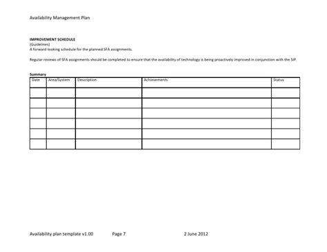Template Plano De Disponibilidade Dos Servi 231 Os Schedule Availability Form Template