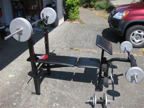weider bench press bar weight weider weight bench and weights saanich victoria