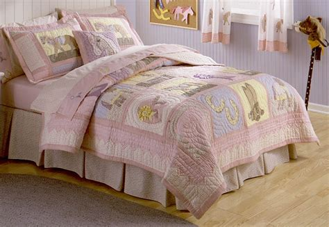 girls horse comforter giddy up cowgirl horse girls twin quilt bedding new ebay
