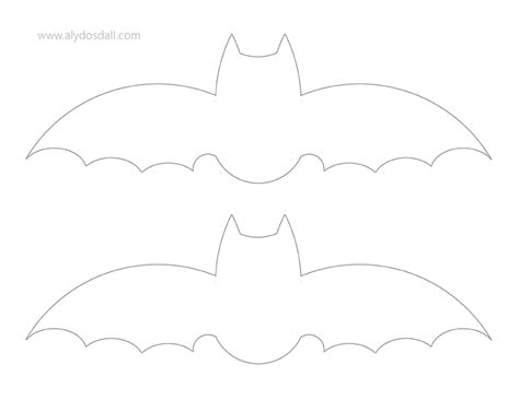 bat template printable aly dosdall diy bat garland free