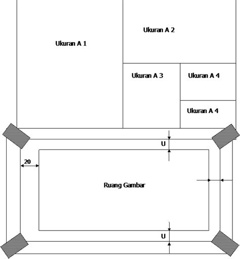 format kepala gambar teknik format kertas gambar teknik modul pembelajaran smk teknik