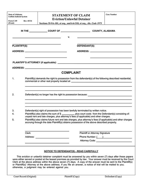 eviction notice template alberta free ezlandlordforms comalabama 14 day notice to