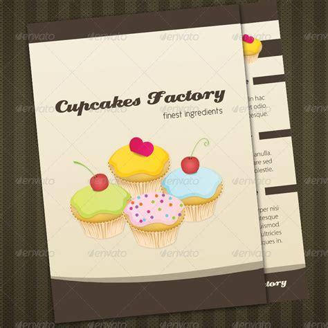 cupcake menu card template cupcakes bakery menu brochure cards by bluedesign