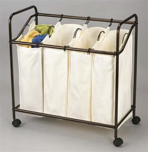 4 Laundry Sorter by Organized A To Z Design Bronze 4 Bag Laundry Sorter