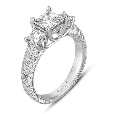 micro pave engagement rings princess cut designs