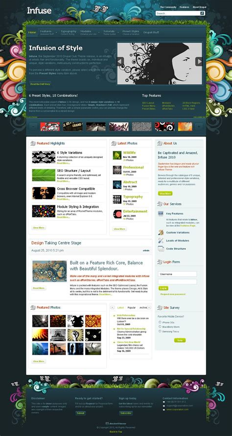 drupal theme ordered list infuse premium drupal theme from rockettheme