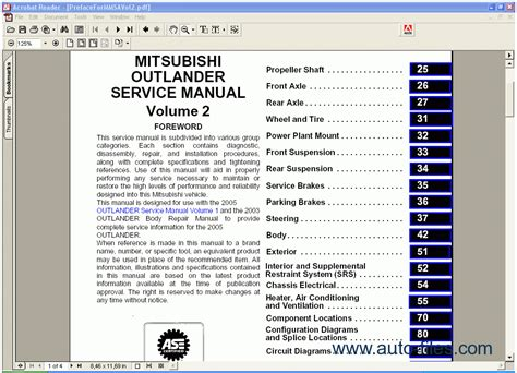 mitsubishi outlander 2005 repair manuals download wiring diagram electronic parts catalog