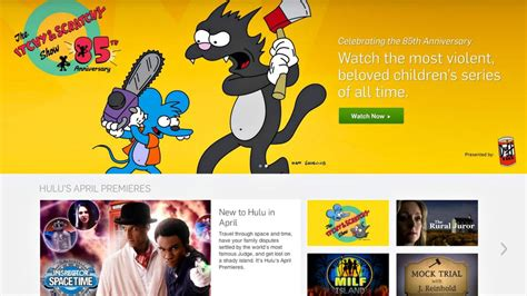 s day hulu hulu adds itchy scratchy island and more