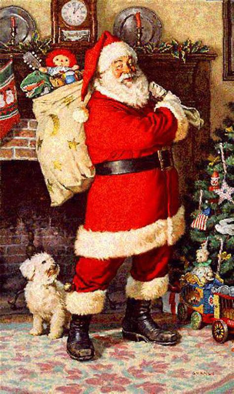 yard santa claus eraper around a tree on skis vintage santa claus picture pictures photos and images for and