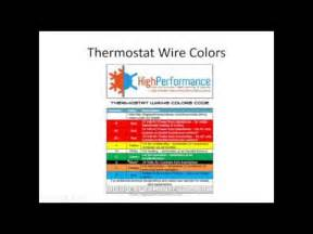 hvac wire colors an explanation of the hvac thermostat color code how to