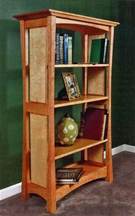 mission oak built  bookcase plans woodarchivist