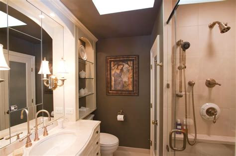 master bath decorating ideas  grasscloth wallpaper