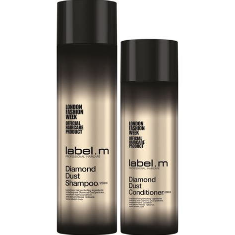 blacklabel hair products label m diamond dust shoo and conditioner duo free