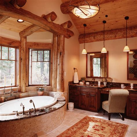 log cabin bathrooms granite ridge log cabin master bathroom teton heritage