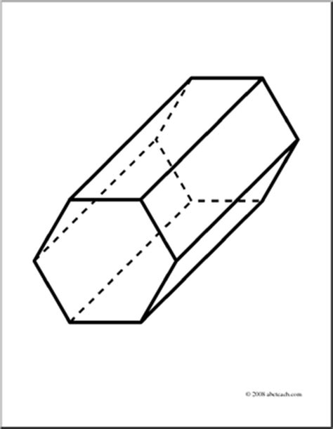 How To Make A Hexagonal Prism Out Of Paper - clip 3d solids hexagonal prism coloring page