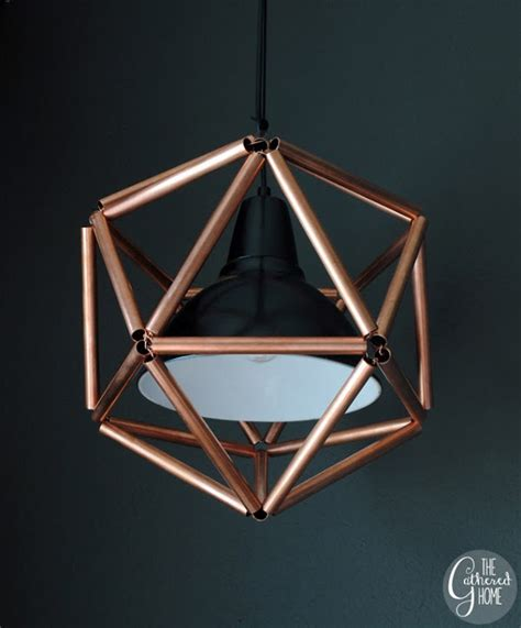 diy pipe light fixture savvy housekeeping 187 make your own copper pipe icosahedron