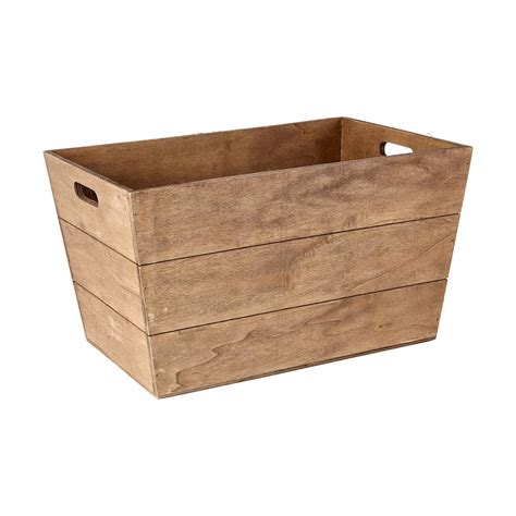 Wooden Box Tapered Wooden Box Kmart
