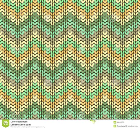 brown green pattern cute ethnic autumn knitted abstract geometric zigzag