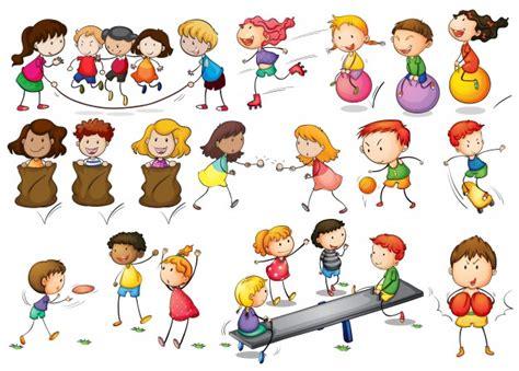 clipart bambini giocano illustrazione di bambini giocano e fanno le