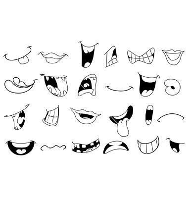 best photos of lip drawing template mouth template
