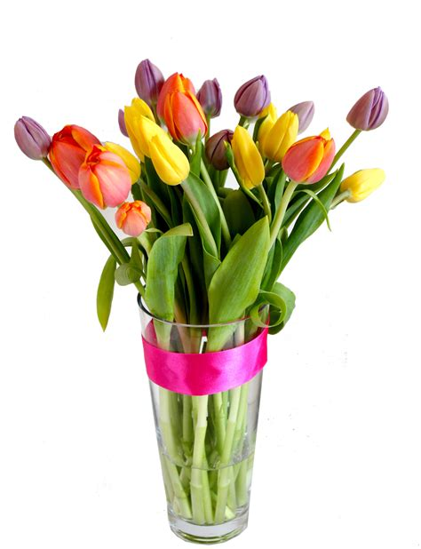 Tulips Vase by Fleur Hong Kong Florist Tulips In Vase