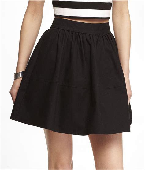 express high waist cotton skirt in black lyst