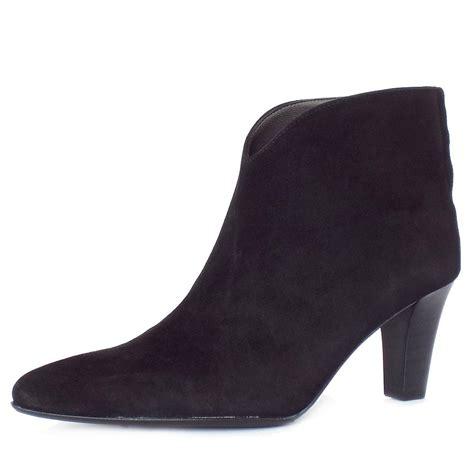 kaiser uk garma black suede boots pointy