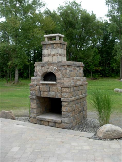 Outdoor Fireplace With Pizza Oven by Outdoor Pizza Oven Springs Landscaping Artisans