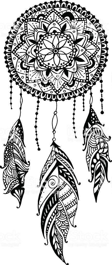Ilustración de Dibujados A Mano Mandala Dreamcatcher Con