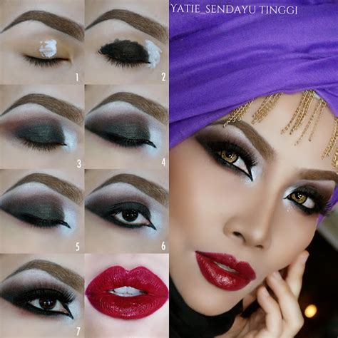 tutorial make up yg sederhana yatie sendayu tinggi night make up