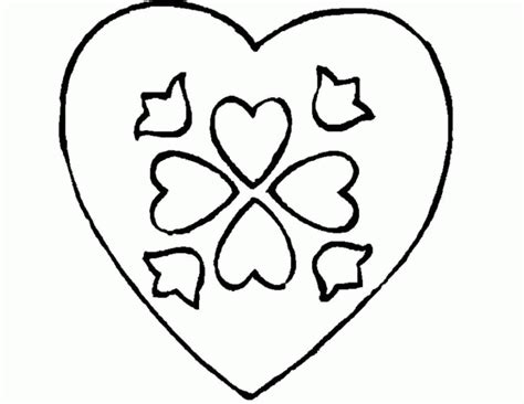 heart print out clipart best