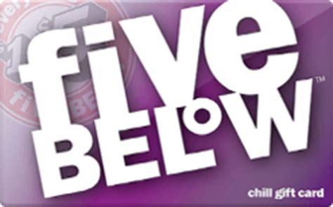 5 Below Gift Card - five below gift card discount 11 90 off