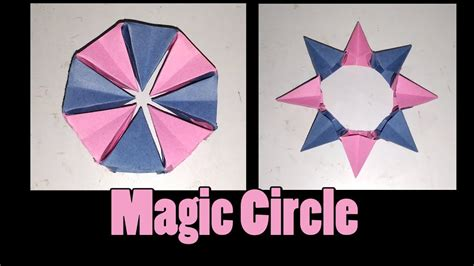 Circle Origami Paper - how to make an origami magic circle origami fireworks
