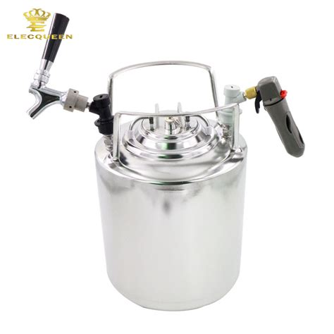 2 5 gallon 10l cornelius style stainless steel keg