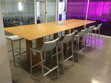 Bar Height Conference Table New Office Conference Tables New Bamboo Bar Height Conference Table At Furniture Finders