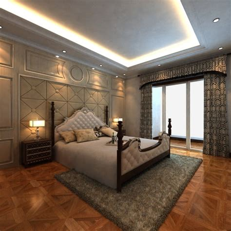 Posh Bedroom Interior With King Size Bed 3d Model Max Posh Bunk Beds