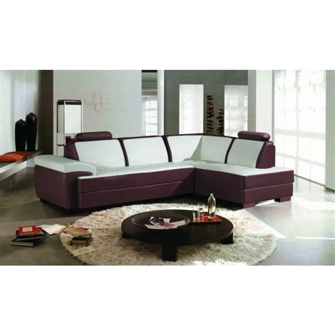 La Furniture Stores by 2234 Modern 2 Tone Leather Sectional Sofa Modern Sofas