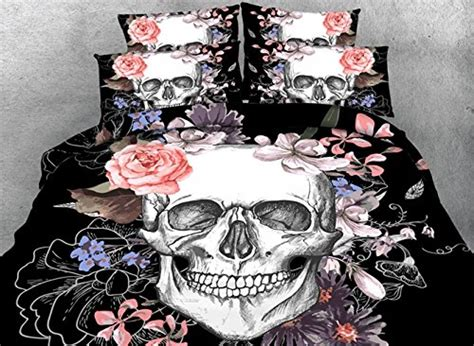skull bedding king size elegant black and white bedroom ideas luxcomfybedding