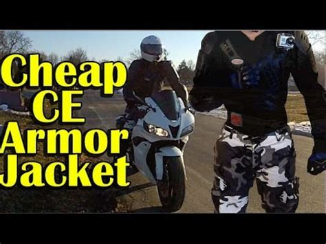 CHEAP Full Body CE Armor Jacket Review   Urban Motorcycle