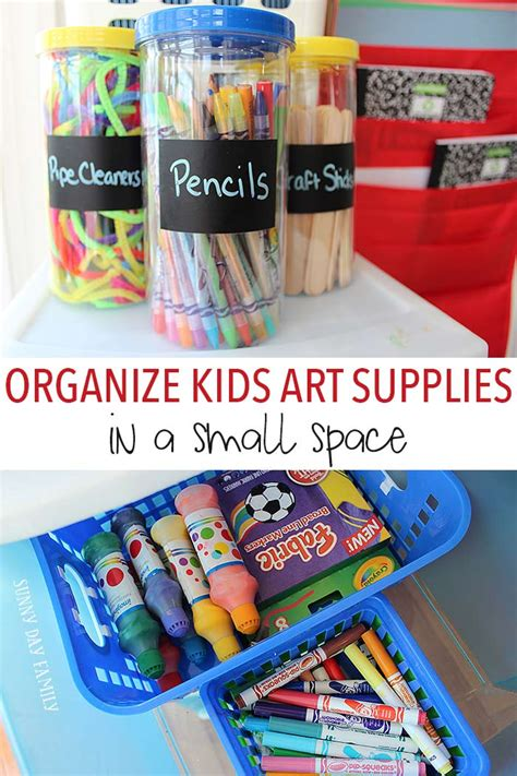 organize kids art supplies   small space sunny