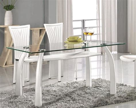 white dining table with upholstered legs santa