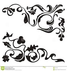 Gothic Cornice Disegni Ornamentali Dell Angolo Fotografia Stock