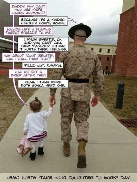 funny usmc drill sergeant and his daughter funny stuff