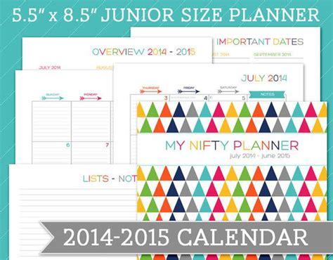 printable june 2015 calendar planner july 2014 june 2015 dated calendar planner 5 5 x 8 5