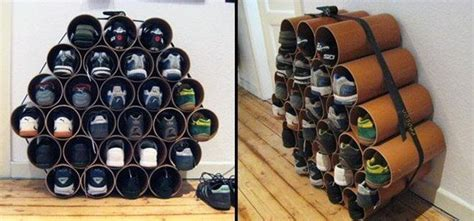pvc shoe storage how to build a low cost shoe rack using pvc pipes