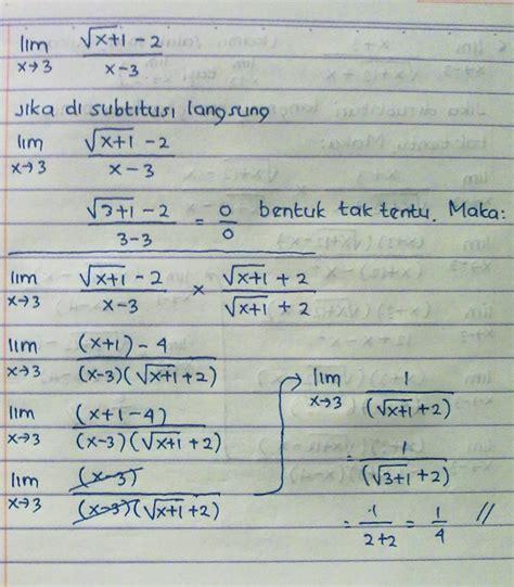 Kalkulus By Ui Press soal dan pembahasan limit fungsi aljabar dan trigonometri