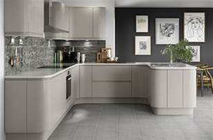 Kitchen Laminate Flooring by Holborn Cashmere Gloss Kitchen Modern Range Benchmarx