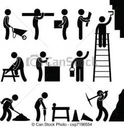 Vaccum Cleaner Target Eps Vector Of Working Construction Hard Labor A Set Of